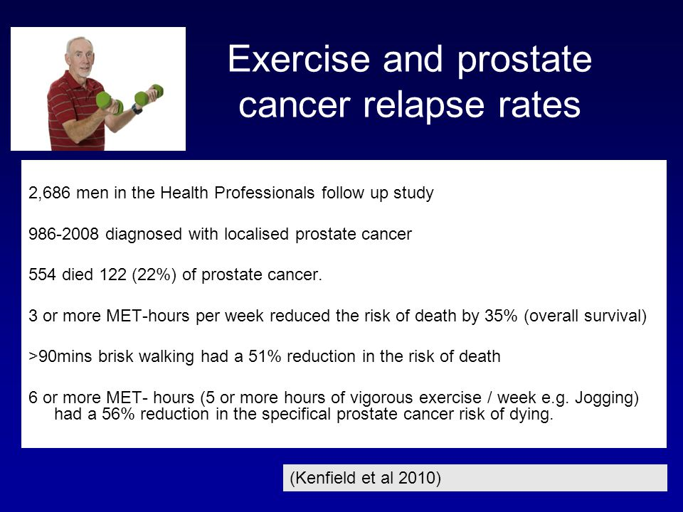 Exercise and prostate cancer relapse rates