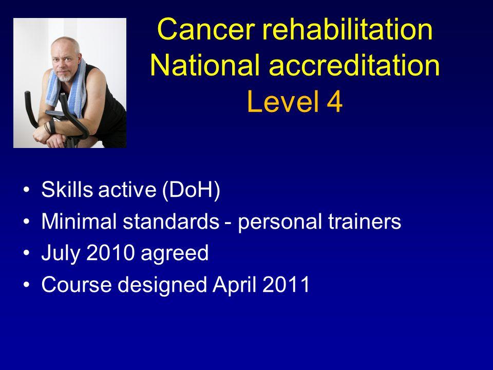 Cancer rehabilitation National accreditation Level 4