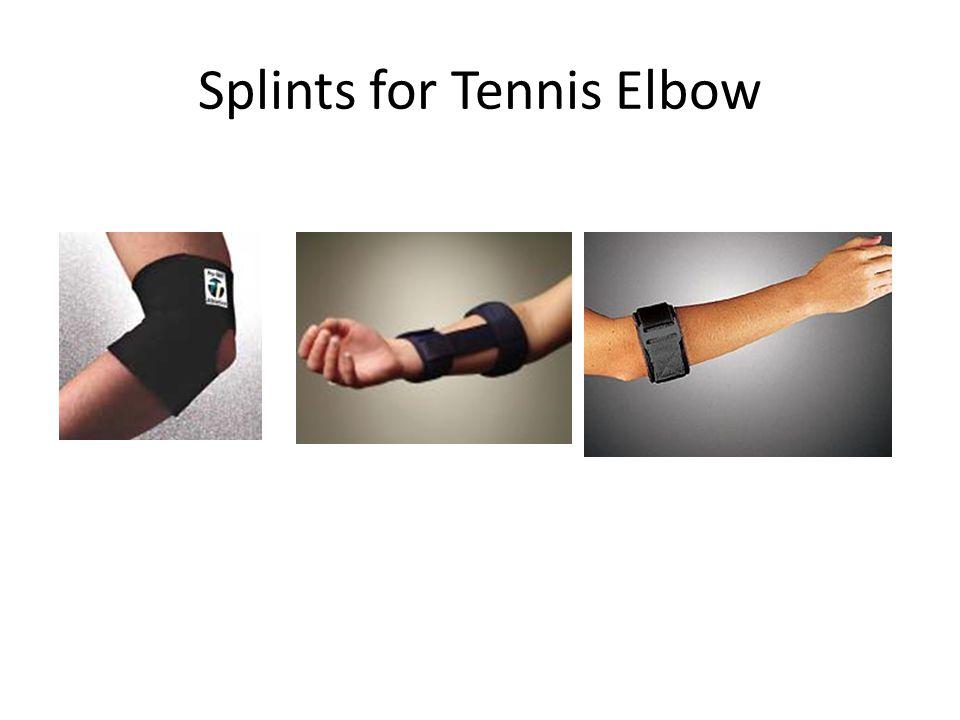 Splints for Tennis Elbow