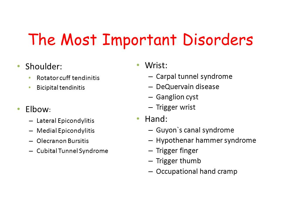 The Most Important Disorders