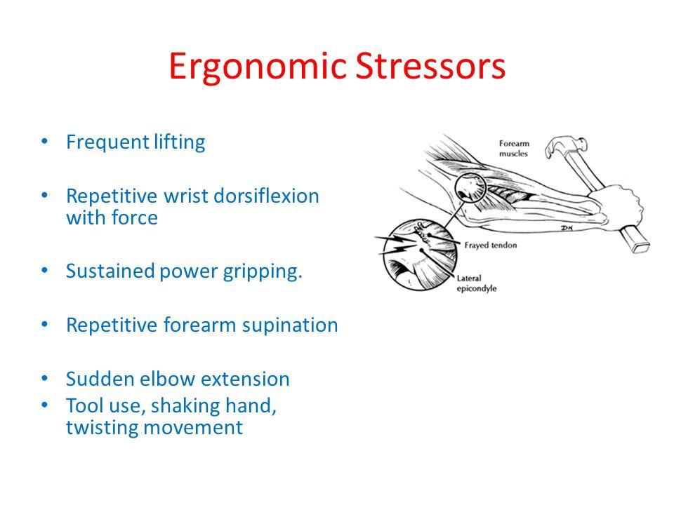 Ergonomic Stressors Frequent lifting