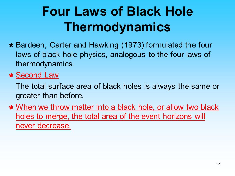 Four Laws of Black Hole Thermodynamics