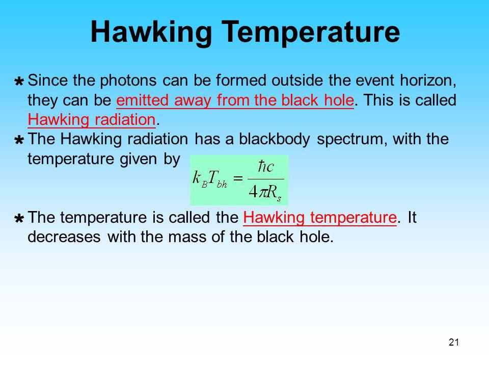 Hawking Temperature