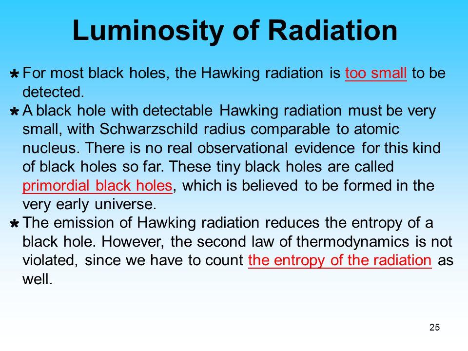 Luminosity of Radiation