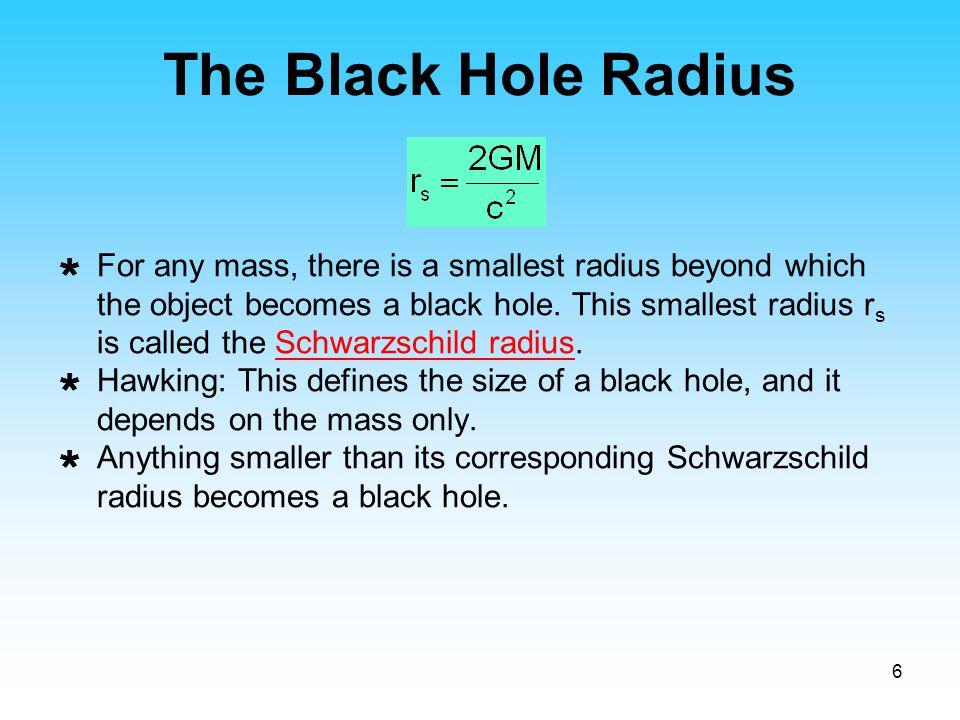 The Black Hole Radius
