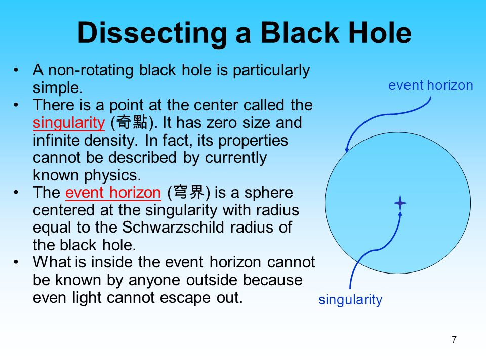 Dissecting a Black Hole