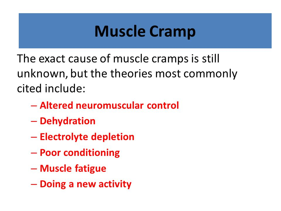 Muscle Cramp Muscle Cramp