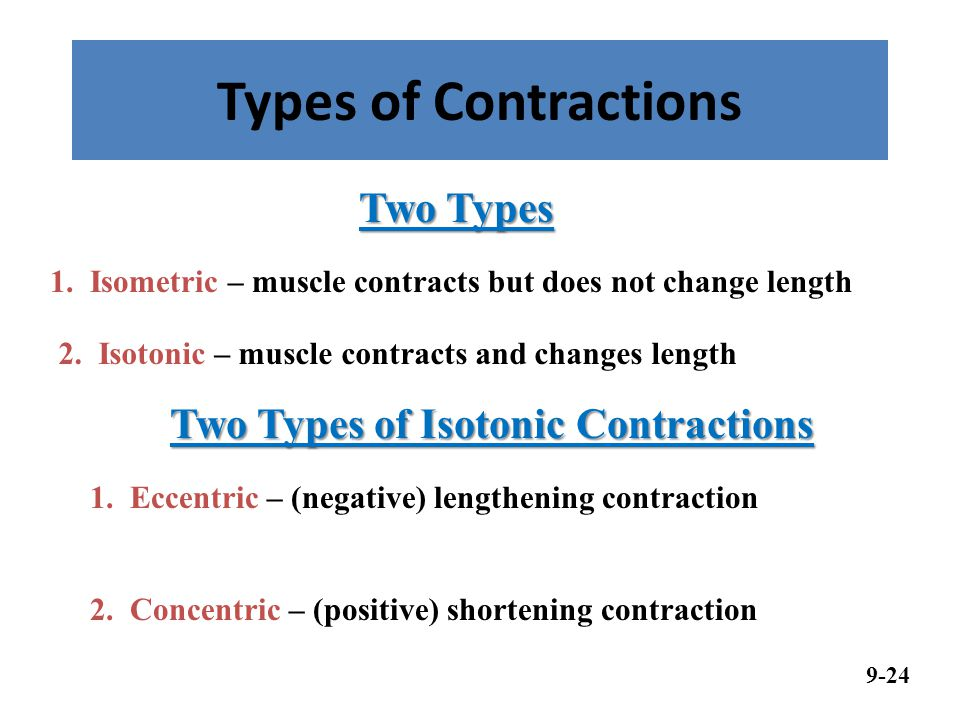 Two Types of Isotonic Contractions