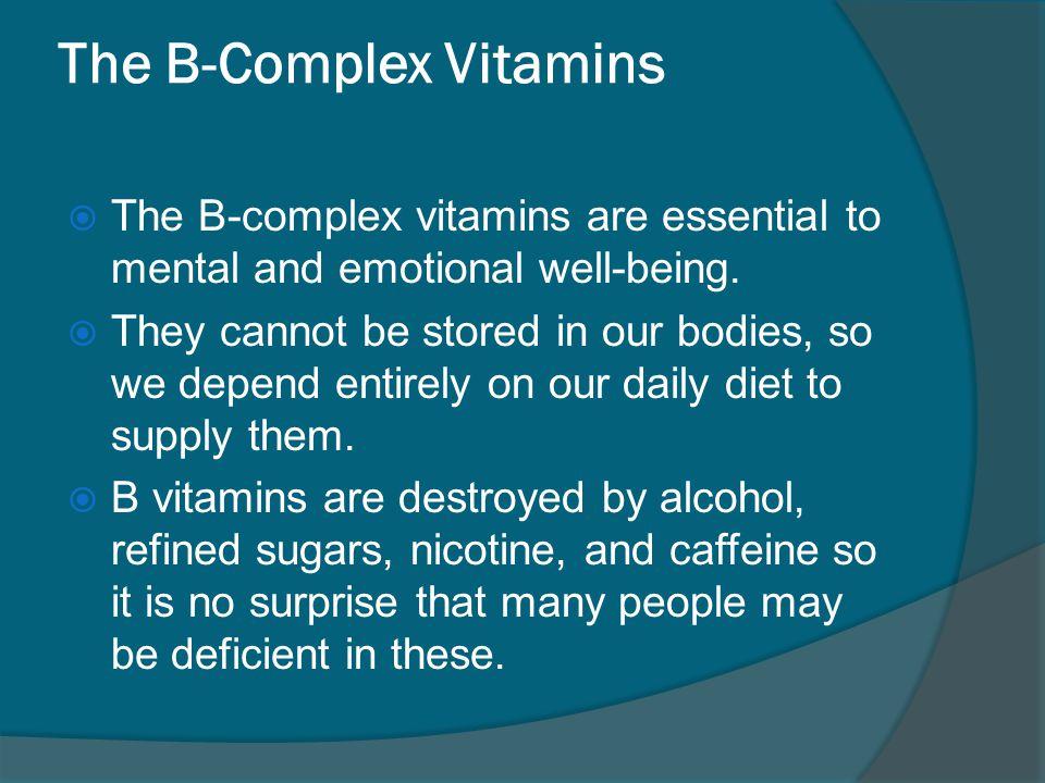 The B-Complex Vitamins
