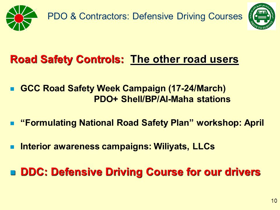 Road Safety Controls: The other road users