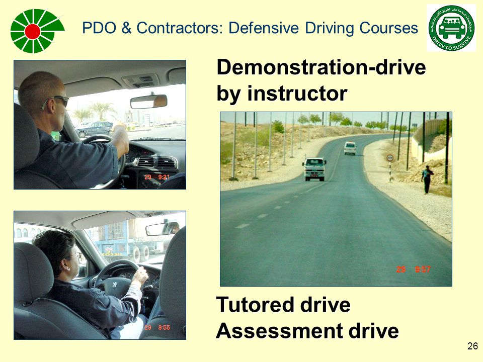 Demonstration-drive by instructor