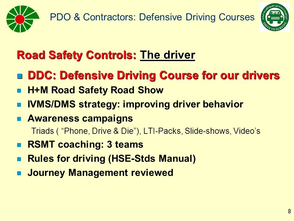 Road Safety Controls: The driver