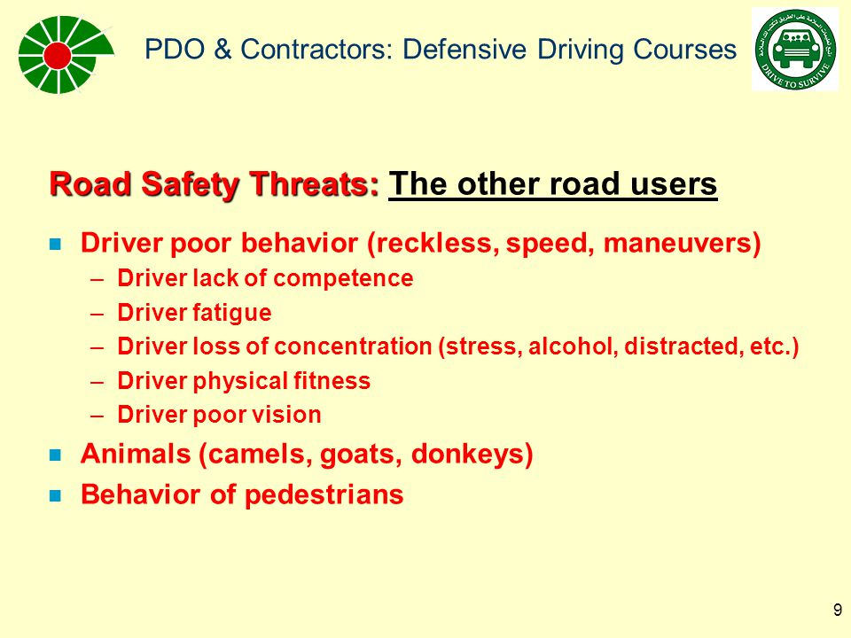 Road Safety Threats: The other road users