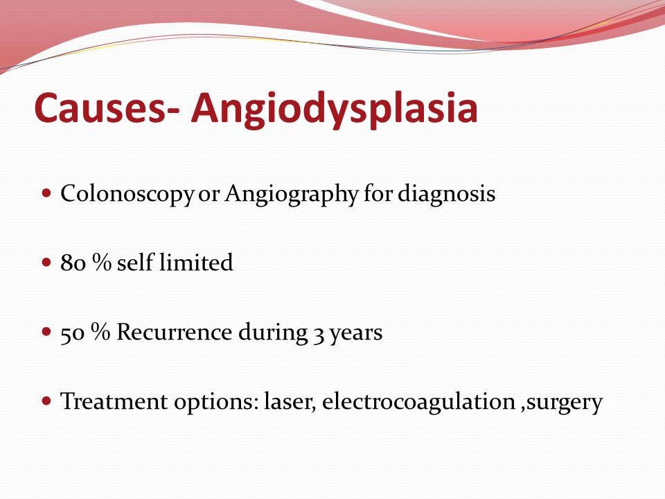 Causes - Angiodysplasia