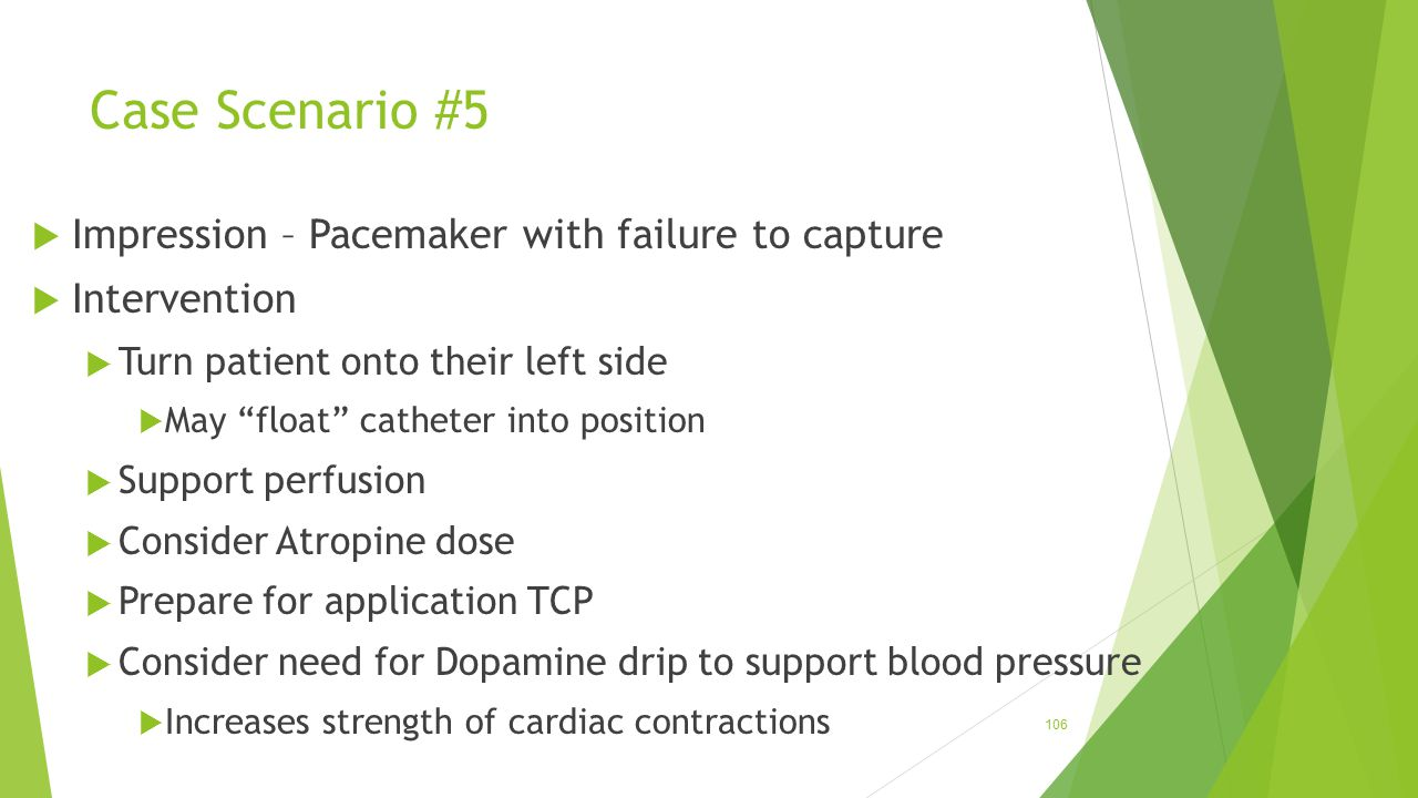 Case Scenario #5 Impression – Pacemaker with failure to capture