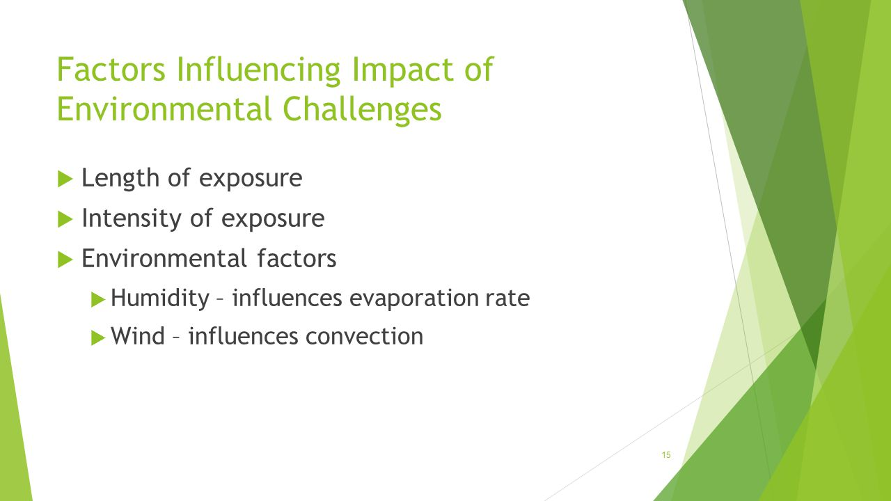 Factors Influencing Impact of Environmental Challenges