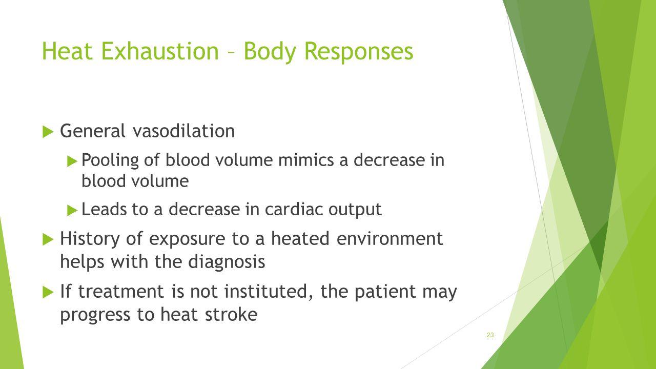 Heat Exhaustion – Body Responses