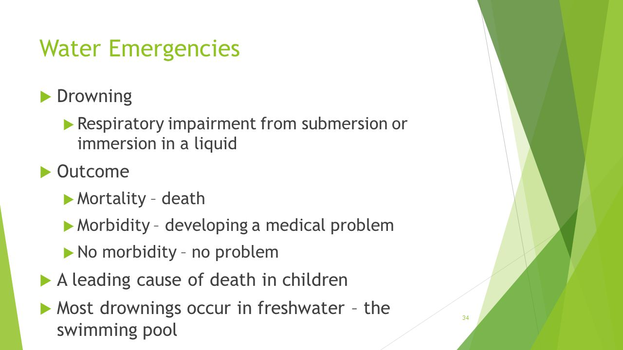Water Emergencies Drowning Outcome