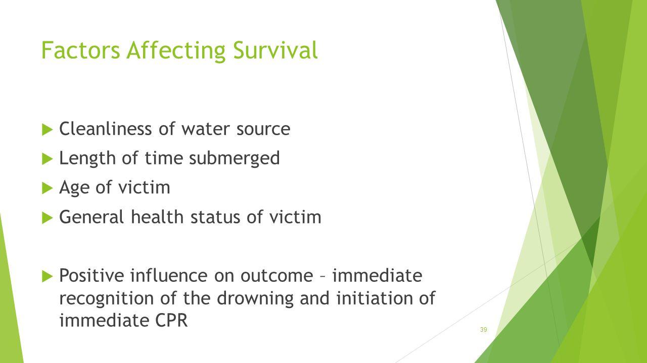 Factors Affecting Survival