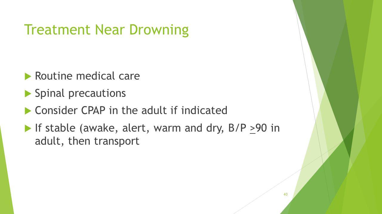 Treatment Near Drowning