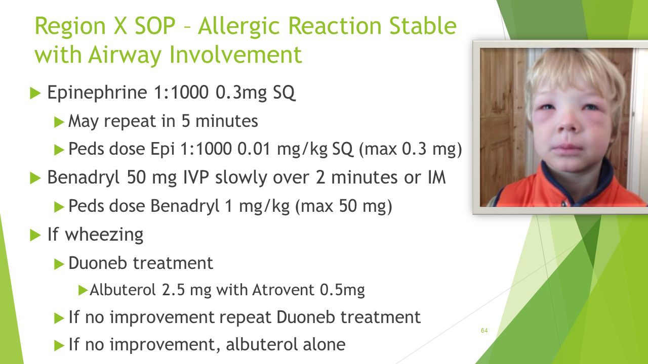Region X SOP – Allergic Reaction Stable with Airway Involvement