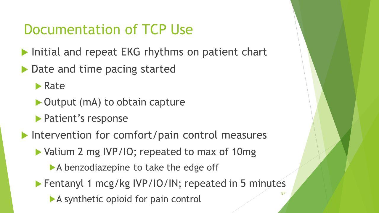 Documentation of TCP Use