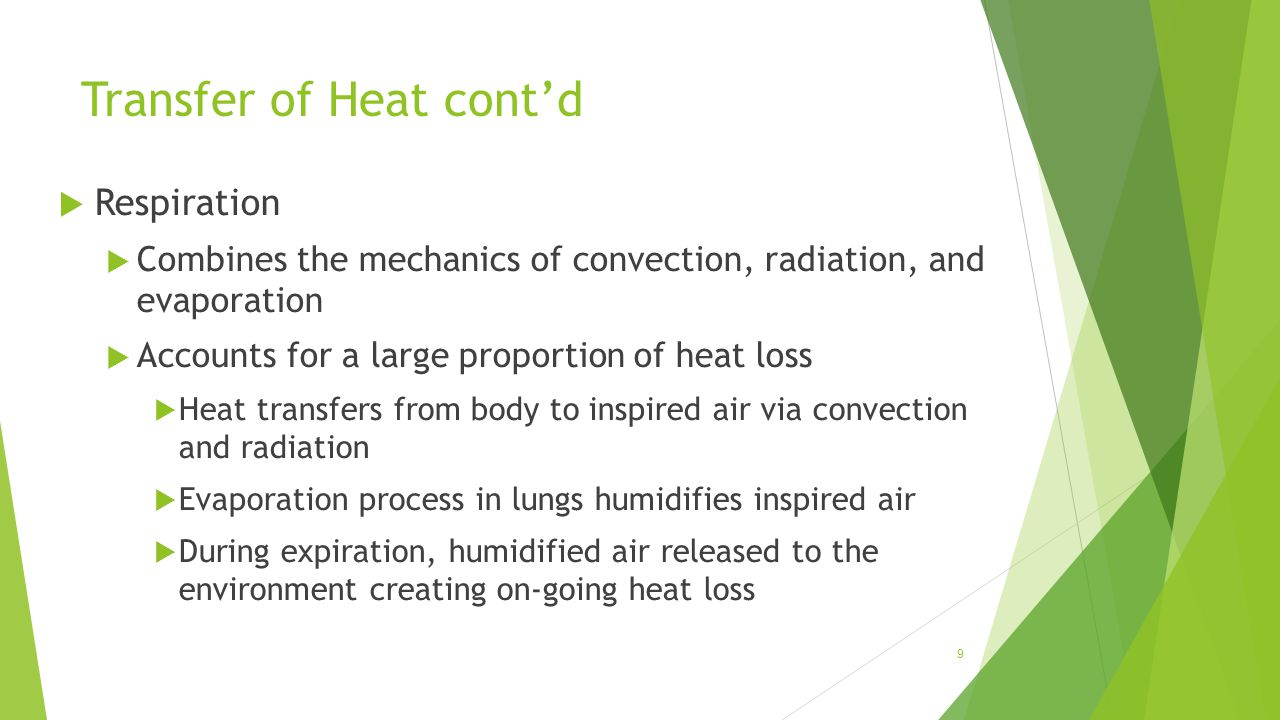 Transfer of Heat cont'd