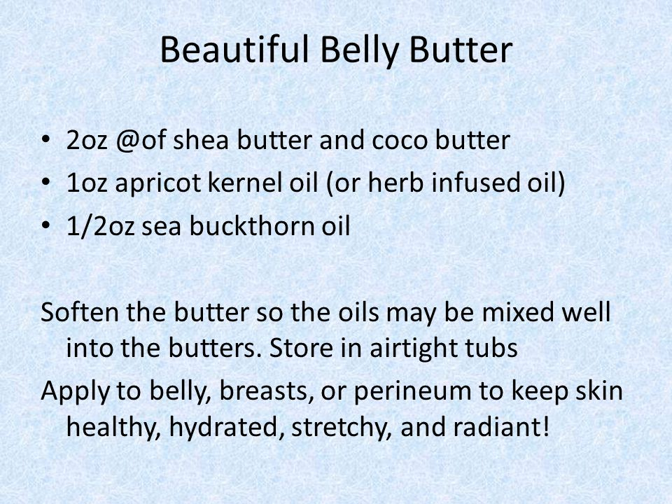 Beautiful Belly Butter