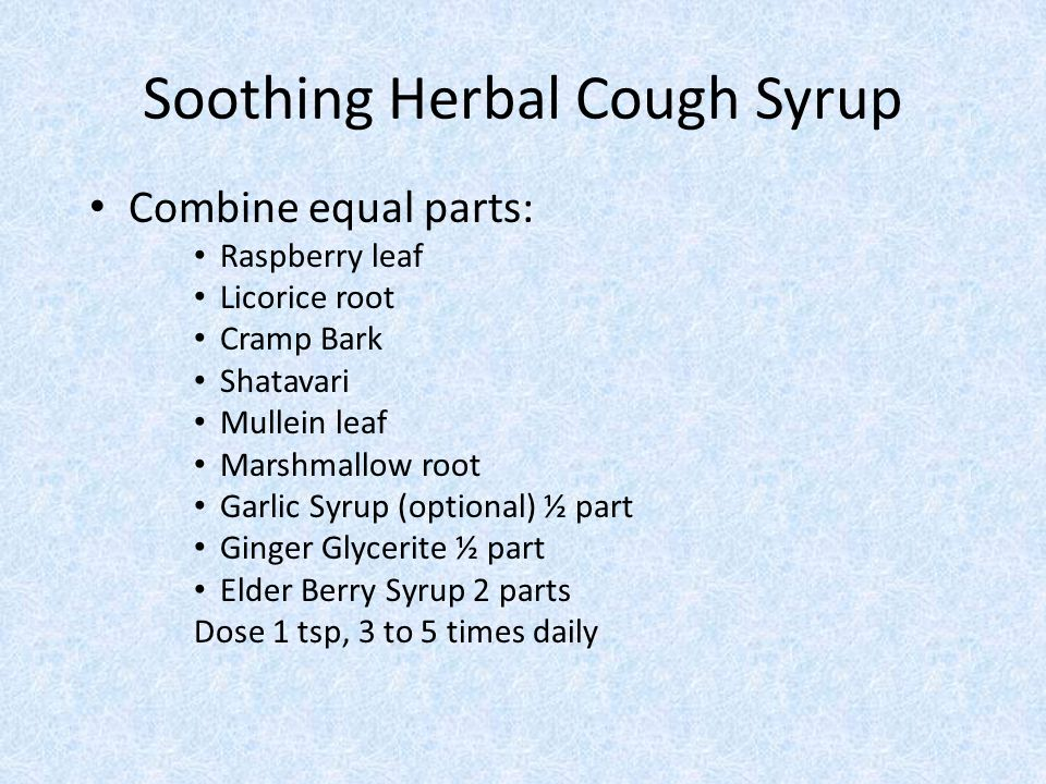 Soothing Herbal Cough Syrup