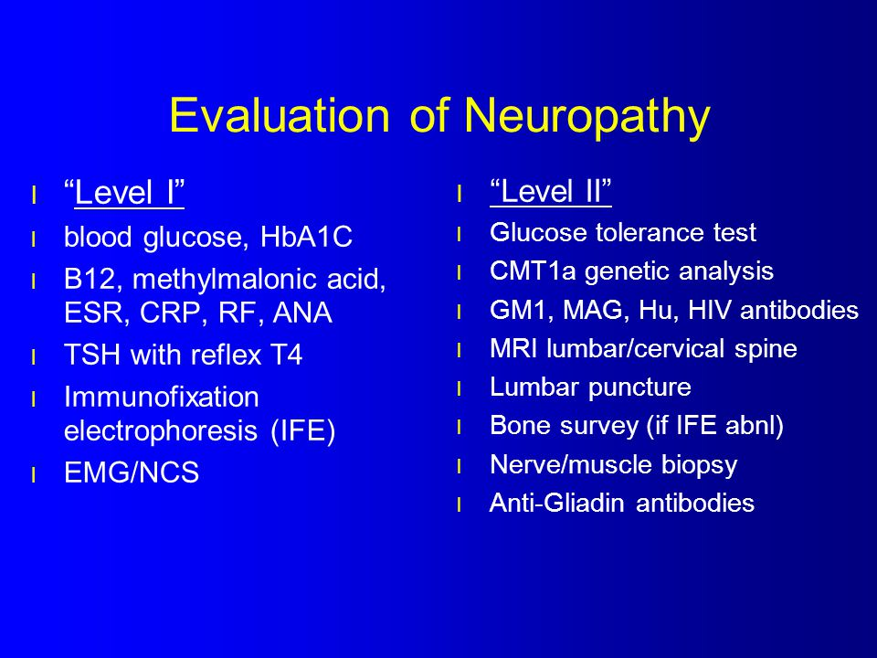 Evaluation of Neuropathy