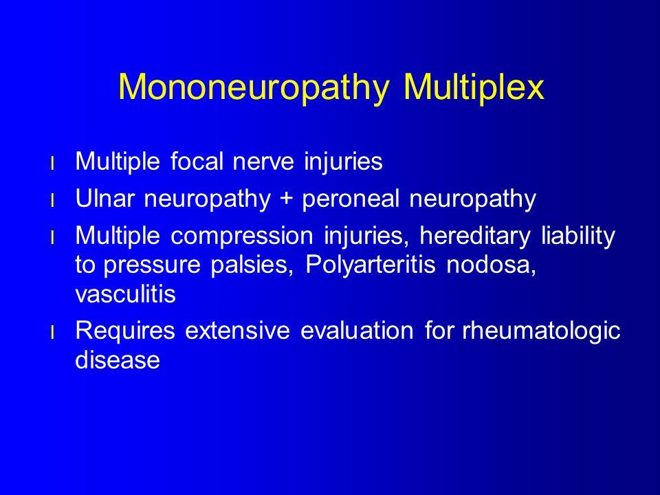 Mononeuropathy Multiplex