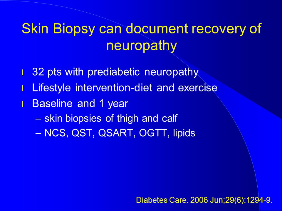 Skin Biopsy can document recovery of neuropathy