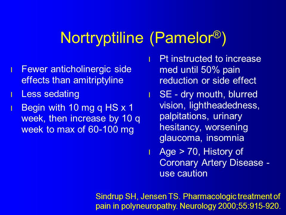 Nortryptiline (Pamelor®)