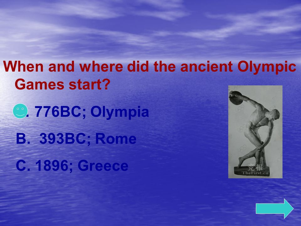 When and where did the ancient Olympic Games start