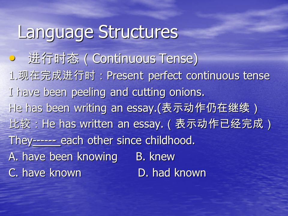 Language Structures 进行时态(Continuous Tense)