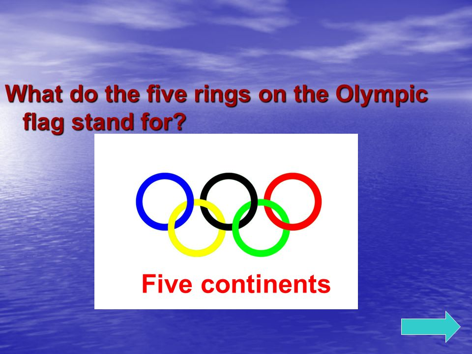 What do the five rings on the Olympic flag stand for