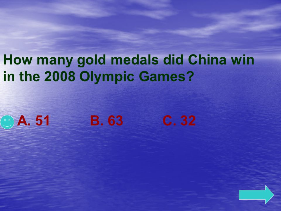 How many gold medals did China win in the 2008 Olympic Games