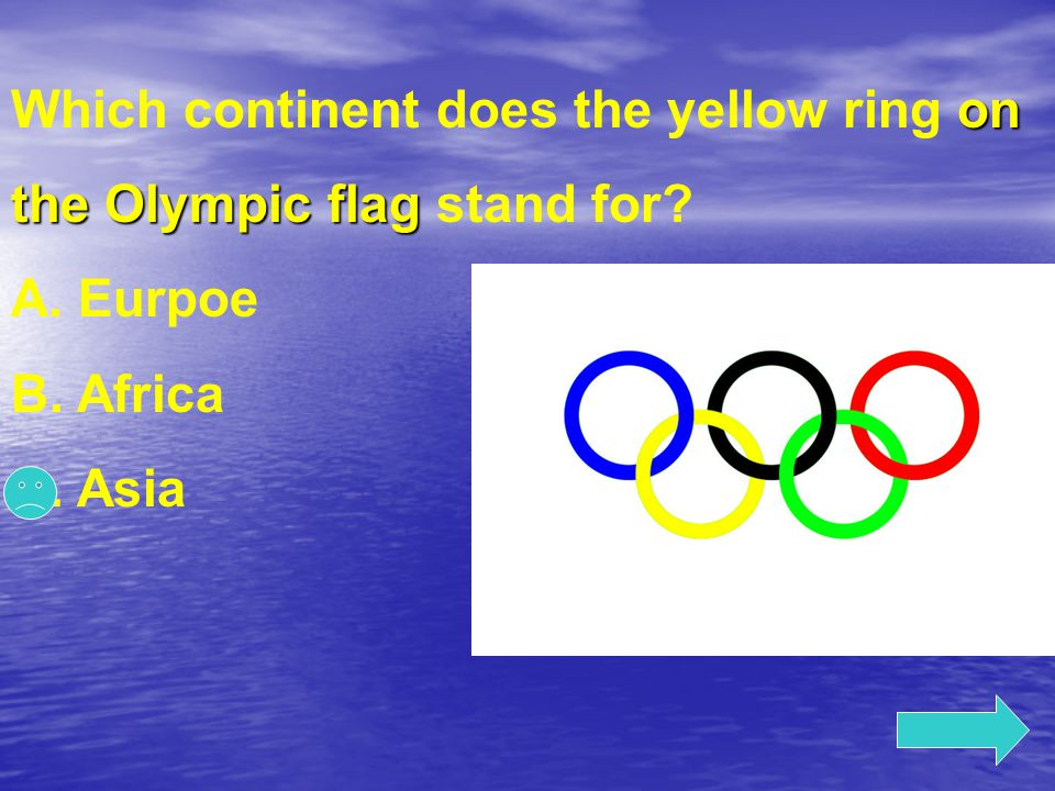 Which continent does the yellow ring on