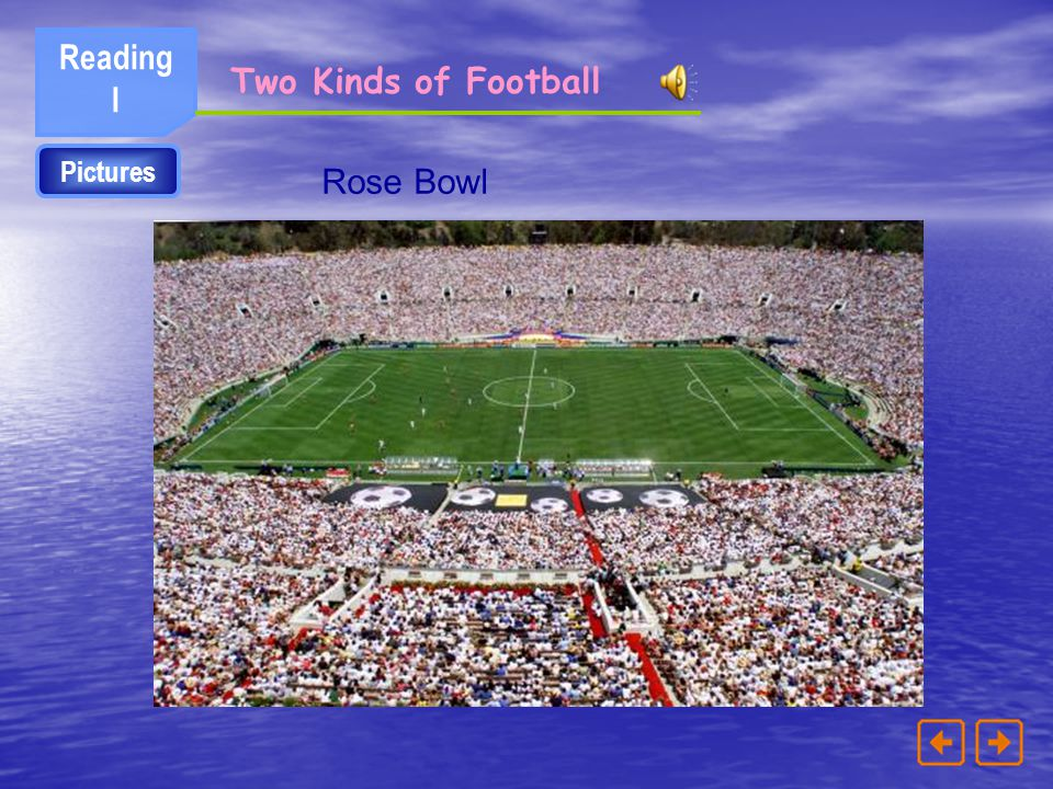 Reading I Two Kinds of Football Pictures Rose Bowl