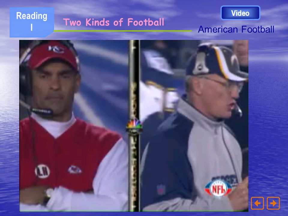 Video Reading I Two Kinds of Football American Football