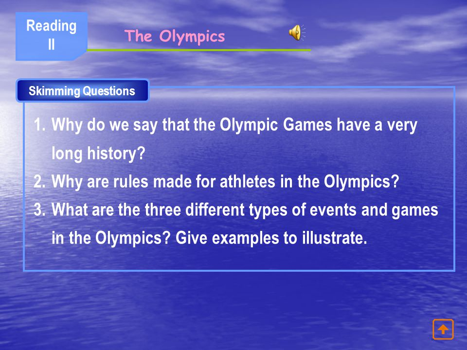 Why do we say that the Olympic Games have a very long history