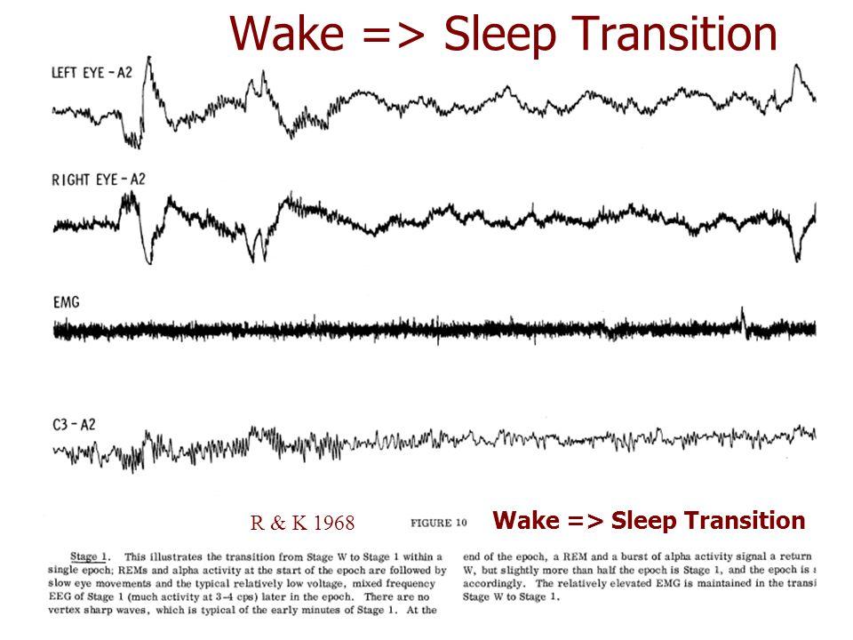 Wake => Sleep Transition