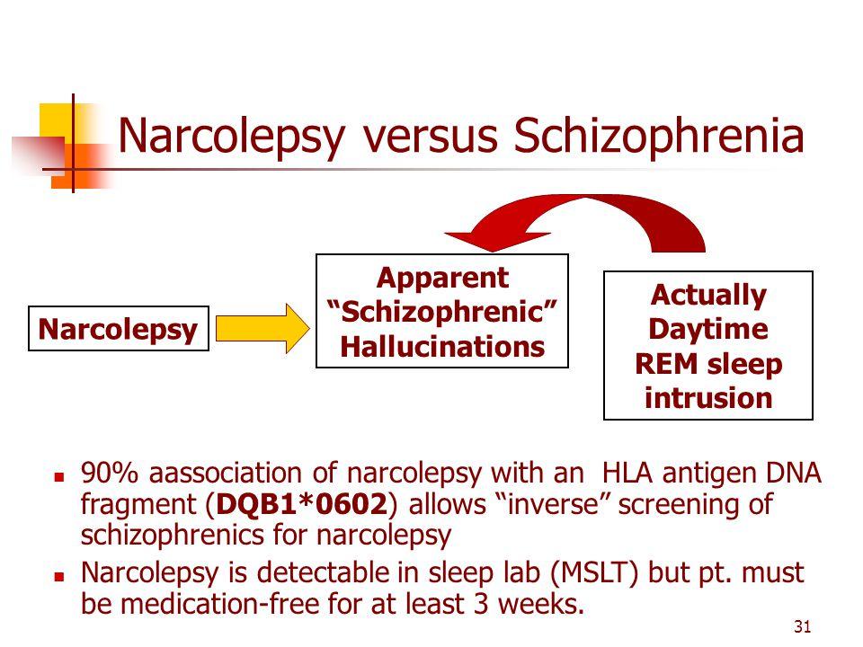 Narcolepsy versus Schizophrenia