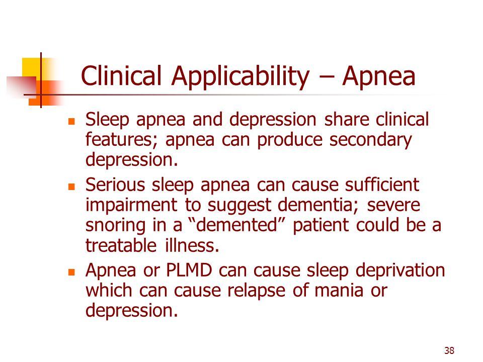 Clinical Applicability – Apnea