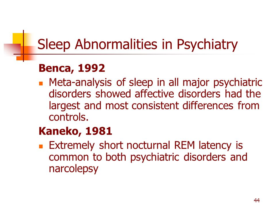 Sleep Abnormalities in Psychiatry