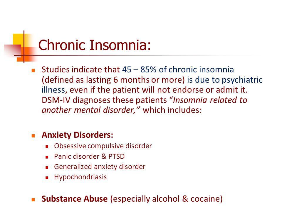 Chronic Insomnia: