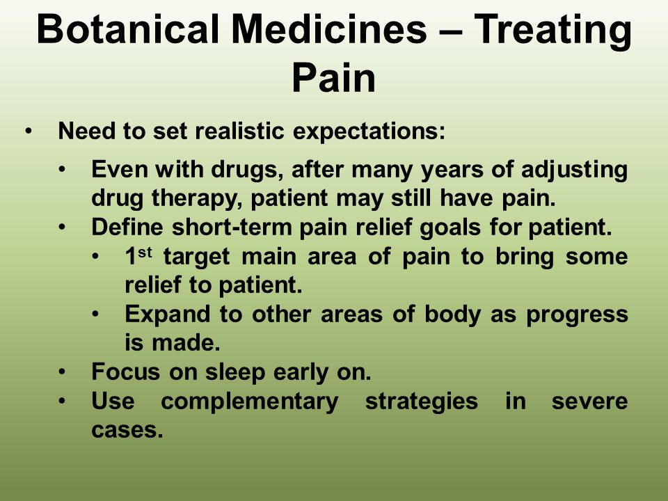 Botanical Medicines – Treating Pain