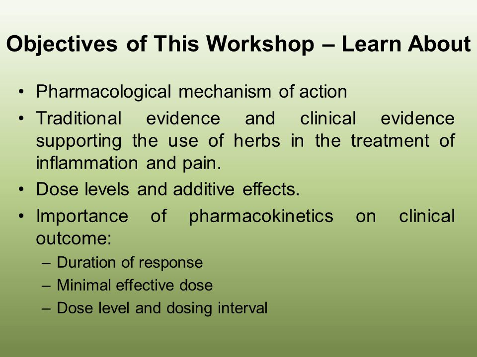 Objectives of This Workshop – Learn About