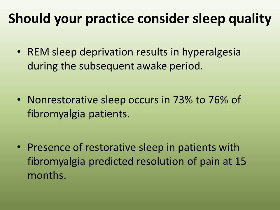 Should your practice consider sleep quality