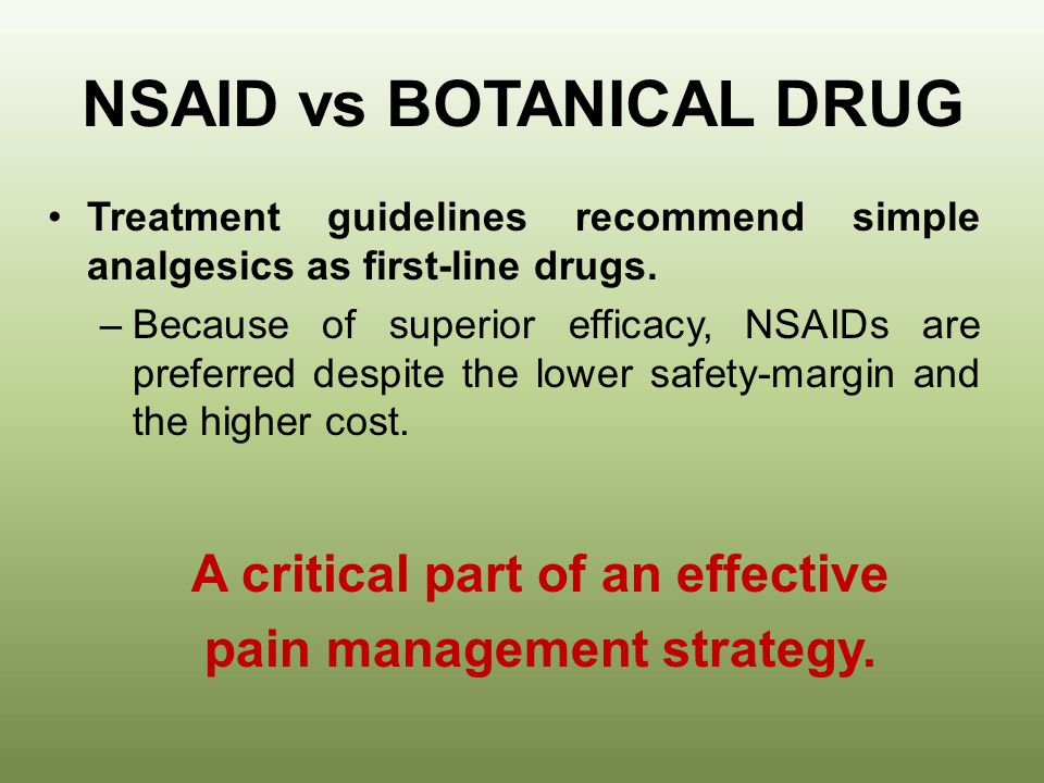 NSAID vs BOTANICAL DRUG